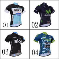 Wholesale New Tour De France Cycling Jerseys Sky Cycling Short Sleeves Jersey Tinkoff Bike Quick Dry Breathable High Quality Bicycle Shirt