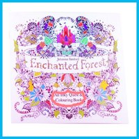 Wholesale 4 Designs Secret Garden Animal Kingdom Fantasy Dream and Enchanted Forest Pages Kids Adult Painting Colouring Books