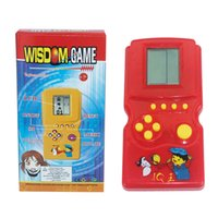 Wholesale Best Handheld game Tetris Worlds systerm casual Tetris game Russian Grid Game Portable games player toys for kids AC290018