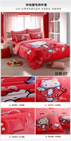 bad machine - Comfortable home textiles comforter set king size beddig sets knitted Duvet Cover Set bedding supplies bad in a bag comforter set