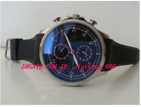 al por mayor hombres moda portuguesa-Relojes de lujo del reloj de manera 2016 NUEVO Zafiro portugués del club Relojes 390210 Movimiento Negro Dial Mens Reloj de los hombres