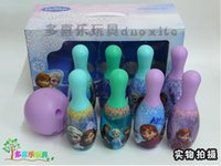Wholesale FROZEN bowling ball suit Snow and ice colors Sports toys children Anna Elsa Toy bowling