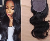 Cheap Silk Base Closure Brazilian Hair Body Wave Free Part Middle Part or 3 Way Part Silk Closure Top Closures Free Shipping