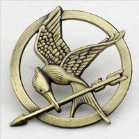 big cardboard - DHL Hunger Games brooch hunger games Mockingjay pin brooch with a laugh Bird bronze original brooch cardboard packaging