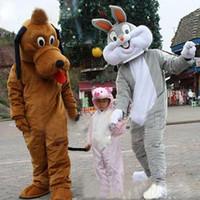 goofy costume - Goofy Dog Bugs Bunny EVA Cartoon Mascot Costume Browm Grey Cartoon Adult Size For Chrismas Halloween Fancy Dress