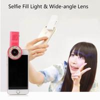 Wholesale Mini Portable LED Fill Flash Selfie Light Filters For CellClip Mini Spot Selfie Fill LED Light Portable Round Ring Flash for iPhone Plus