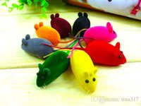 mouse beautiful mice - Cute Beautiful Funny Fashion New Bright Coloured Little Mouse Toys For Pets Sound
