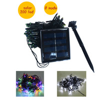 Wholesale 200 LED lights m solar led Lights led Lighting Strings Flash Fairy Festival Party light Christmas light wedding Decor