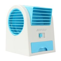 air decorations - 2016 Hot Sale Mini USB Fragrance Refrigeration Fan Portable Bladeless Desktop fan Cooling Air Conditioner with Retail Packaging EGS_709