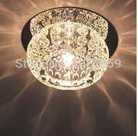 Wholesale 10 LED Modern Crystal New Style Ceiling Lamp light G4 Max W Crystal Complete Used in corridor stairs kitchen and toilet