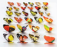Wholesale D Artificial Butterfly Decorations Magnets Craft Fridge Room Wall Decor