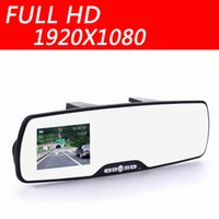 Wholesale car camera rearview mirror auto dvrs cars dvr parking recorder video registrator camcorder full hd p IR night vision cam car dvr