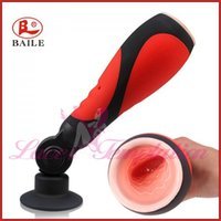 Wholesale sex toys for men Pretty love oral sex lover hand free speed vibrating mouth masturbation cup sex products men s delay trainer Masturbator