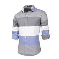 batik dress design - 2015 Spring Hot New Mens Shirt Casual Slim Fit Pathwork Design Youthful Stylish Men Dress Shirts fashion high quality shirts