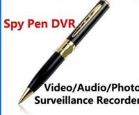 Wholesale New arrival Hidden Spy Pen Camera HD with TF Card Socket Super Mini DV BPR6 w Hidden Microphone Cameras