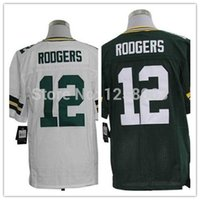 Wholesale Factory Outlet Fast Low Price Aaron Rodgers White Green Men s Elite Football Jerseys