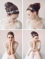 Wholesale 2015 Tiaras Hair Accessories K Gold Plated Flower Crystal Hair Vine Bridal Hairband Acessories Wedding Headbands Headpieces For Weddings