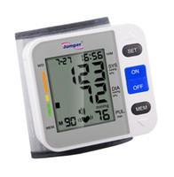 auto sphygmomanometer - 90 Memory Recall Wrist Arm Digital Blood Pressure Monitor Sphygmomanometer Gauge Fully auto Pocket Wrist Cuff Hypertension Jumper JPD W