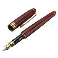 Wholesale Price mm Red Rosewood Wooden Medium Iridium Nib Fountain Pen For Writing Office Student Teachers Fashion Gifts