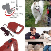 Wholesale 3M Automatic Retractable Leash Lead Strap Adjustable Dog Leash Rope Black Red