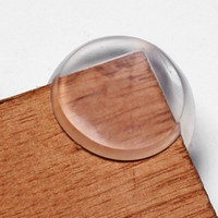 Wholesale Free DHL Soft Clear Rubber Ball Corner Guards Baby Child Kids Silicone GOOD Table Desk Corner Edge protector