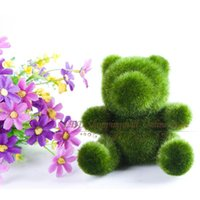 Wholesale Retail Small cute panda design decorations artificial animal grass land nice gift order lt no track