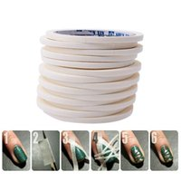 Wholesale 0 cm m Manicure D Nail Art Tips Creative Nails Stripe Tape Rolls White Tape Stickers For Masking Pattern JH225