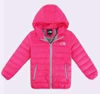Wholesale boys girls thick warm Children s Down Coat Kids Down Outwear Baby Hoodie Jackets