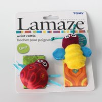 Wholesale Lamaze High Contrast Garden Bug Wrist Rattles Baby Girl Boy ladybug bee toys L0390A