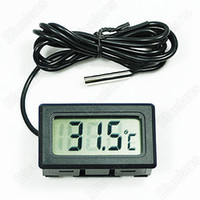 Wholesale New Mini Aquarium LCD Display Digital Thermometer Fish Tank Water Household Refrigerstor Thermometers IJ
