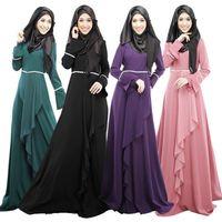 achat en gros de jilbab-Abaya robe musulmane turque vêtements pour femmes abayas islamic jilbab vestidos longos vêtements musulmane dubai caftan longo giyim rose