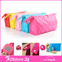Wholesale Rhomboic Women Cosmetic Bags Makeup Bags Mini Travel Bags With High Quality Storage Bags Multi Color