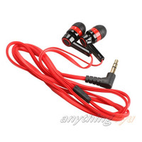 Wholesale ONLY mm In Ear Earphone Candy Color Symmetric Headphone Compact Flat Cable