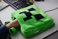 Wholesale Pre sale Minecraft Creeper Stuff Mouse Warm Hand Gloves Green Cartoon Warm Office Glove Boys Girls Monster JJ Mittens Students Mitten D3158