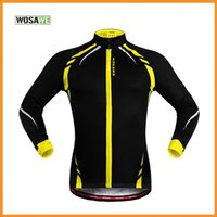 Wholesale WOSAWE Men Cycling Jersey Thermal Fleece Bike Bicycle Long Sleeves Mountaion MTB Jersey Clothing Shirts Windproof DHL