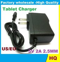 Wholesale 5V A DC mm Plug Converter Wall Charger Power Supply Adapter for A13 A23 ALL Tablet EU US plug Retail DHL FREE