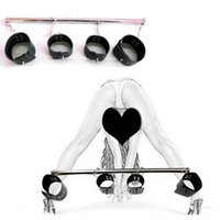 Wholesale High Quality Stainless Steel Spreader Bar Bondage With Hand cuffs And Ankle Cuffs Adult Games