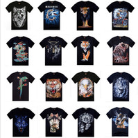 beach clothes men - Men D animal Print Tees T Shirts men s teenagers sport short sleeve cotton t shirt summer beach clothing apparel gift