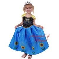 ankle patch - Pettigirl New Arrival Princess Girls Patch Dresses Sunflower And Butterfly Print Elsa Dress Children Vestidos Wear GD50708
