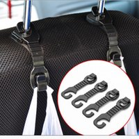 Wholesale 1Pair Car Back Seat Headrest Hanger Holder Hooks For Bag Purse Cloth Grocer Popular