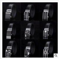 belts - BBA4022 P designs HOT Fashion belt MEN S Genuine Leather belts Waist Strap Belts Automatic Buckle Black leisure business leather belts