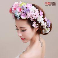 beautiful headdress - 2016 new bride beautiful bride headdress suit simulation flower flower box of Korean headdress flower wedding hair dress accessories