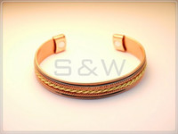 copper alloy - ROSE GOLD PLATED Alloy Magnetic power Copper alloy Bracelet Bangle B60R