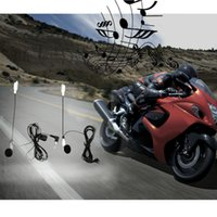 Wholesale Motorcycle Intercomunicador Motocicleta Motorbike Helmet Handsfree Earphone Headset Intercom Way Radio System Earphone Mic