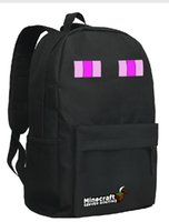 Wholesale black backpack school bag in stock same day shippin black enderman student backpack