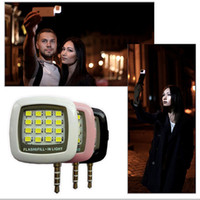 Wholesale Portable Mini Leds Lamp LED Flash IBlazr Dimmable Fill IN Light Pocket Spotlight For iPhone IOS Android Smartphone Camera