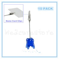 Wholesale 10 PACK Tooth Shaped Table Number Stands Memo Clips Name Card Clips Holders Dentist Dental