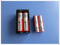 Wholesale FreeShipping Battery Ultrafire V Mah Rechargeable Lithium Battery Battery Charger US EU Plug