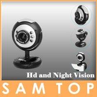 Wholesale New upgrade UN2F Mega M USB LED Webcam Web Cam Camera Laptop Computer With Mic