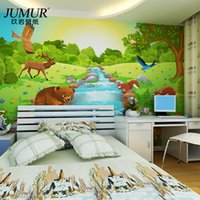 Wholesale Mural Child real eco friendly cartoon wallpaper tv living room background wall wallpaper seamless d mural jungle